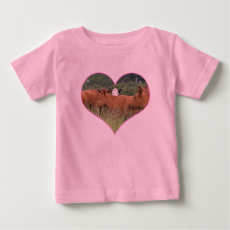 Cow Love-White Faced Cow with Herd of Red Cows Tshirts