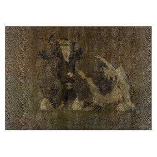 Cow lying down painting, Anton Mauve Cutting Board