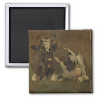 Cow lying down painting, Anton Mauve Magnet