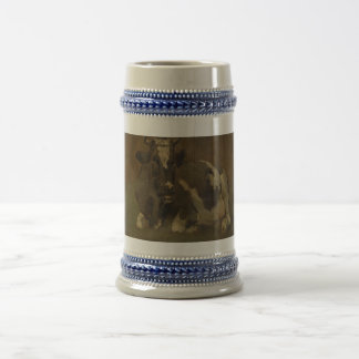 Cow lying down painting, Anton Mauve 18 Oz Beer Stein