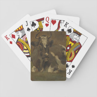 Cow lying down painting, Anton Mauve Poker Cards