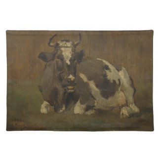 Cow lying down painting, Anton Mauve Place Mat