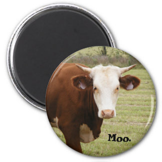 """Cow magnet: """"Moo."""" Magnet"""