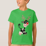 Cow Masquerading as Reindeer Children T-shirt