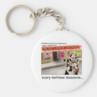 Cow Matinee Scary Moovie Funny Tees & Gifts Keychain