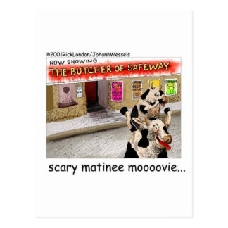 Cow Matinee Scary Moovie Funny Tees & Gifts Postcard