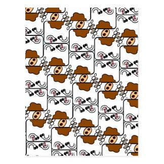 Cow Matrix Postcard