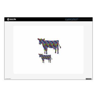 "COW milk animal domestic dot navinJOSHI NVN91 FUN 15"" Laptop Decal"