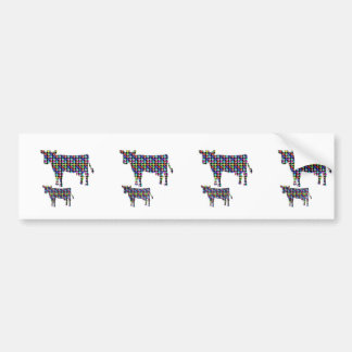 COW milk animal domestic dot navinJOSHI NVN91 FUN Bumper Sticker