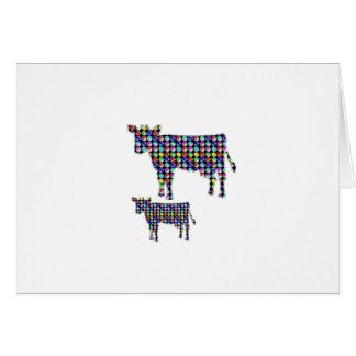 COW milk animal domestic dot navinJOSHI NVN91 FUN Greeting Cards