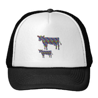 COW milk animal domestic dot navinJOSHI NVN91 FUN Mesh Hats