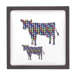 COW milk animal domestic dot navinJOSHI NVN91 FUN Jewelry Box