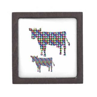 COW milk animal domestic dot navinJOSHI NVN91 FUN Keepsake Box