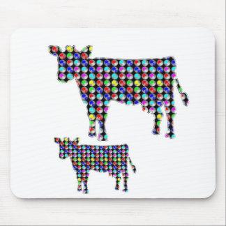 COW milk animal domestic dot navinJOSHI NVN91 FUN Mouse Pad