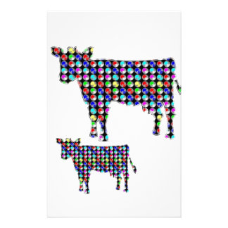 COW milk animal domestic dot navinJOSHI NVN91 FUN Customized Stationery