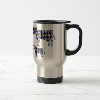 COW milk animal domestic dot navinJOSHI NVN91 FUN Travel Mug