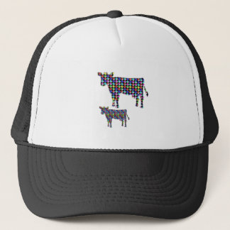 COW milk animal domestic dot navinJOSHI NVN91 FUN Trucker Hat