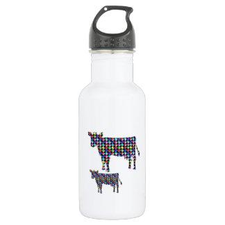 COW milk animal domestic dot navinJOSHI NVN91 FUN Water Bottle