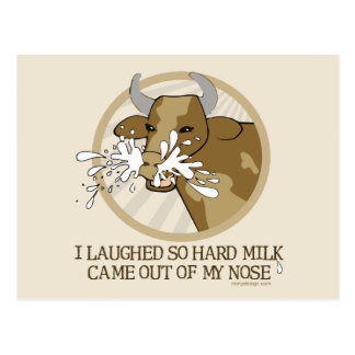 Cow Milk Out My Nose Postcard