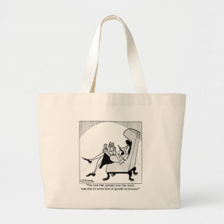 Cow, Moon & Growth Hormones Large Tote Bag