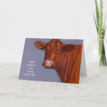 Cow Mother's Day Card, Original Art, Moo-ma Card