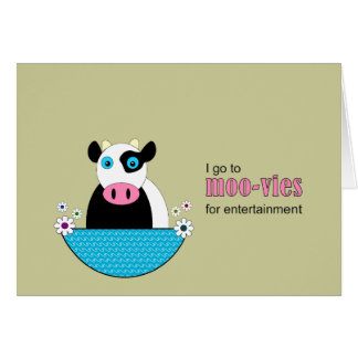 Cow Movies Card