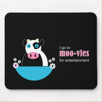 Cow Movies Mouse Pad