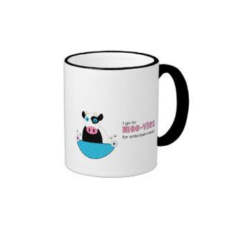 Cow Movies Ringer Coffee Mug