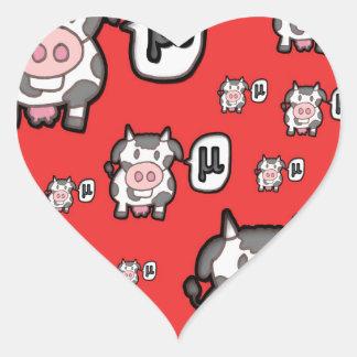 COW MU - NETWORK MODEL HEART STICKER