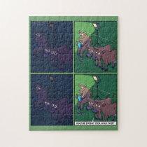 Cow Night Light Jigsaw Puzzle