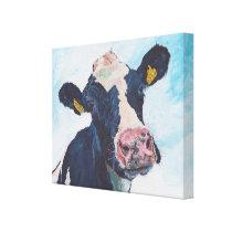 Cow No 01. 0254 Irish Friesian Cow Canvas Print