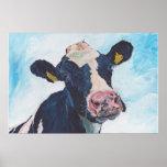 Cow No 01. 0254 Irish Friesian Cow Poster