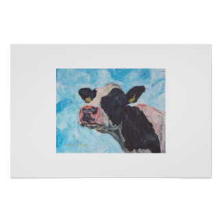 Cow no 03. 0556 Irish Fresian Cow Poster