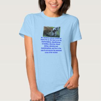 cow, No sensitive person would eat flesh if he ... T-shirt