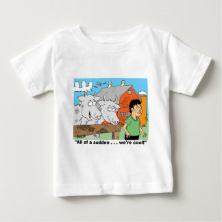 COW / NOSE RING / FARMER KID CARTOON GIFTWARE BABY T-Shirt