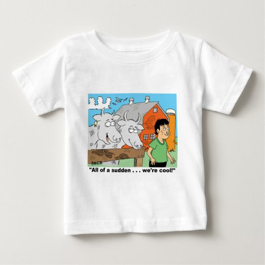 COW / NOSE RING / FARMER KID CARTOON GIFTWARE BABY T-Shirt