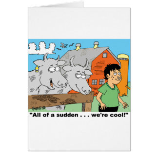 COW / NOSE RING / FARMER KID CARTOON GIFTWARE CARD