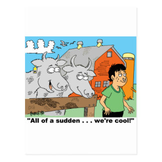 COW / NOSE RING / FARMER KID CARTOON GIFTWARE POSTCARD