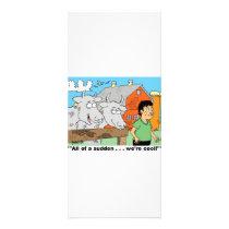 COW / NOSE RING / FARMER KID CARTOON GIFTWARE RACK CARD