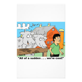 COW / NOSE RING / FARMER KID CARTOON GIFTWARE STATIONERY