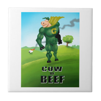 COW of BEEF! Ceramic Tile