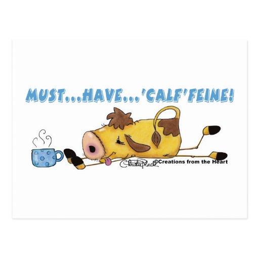 Cow on Calffeine Postcard