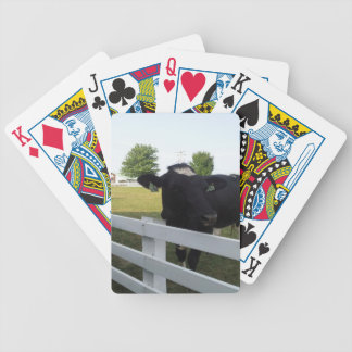 Cow on Farm Bicycle Playing Cards