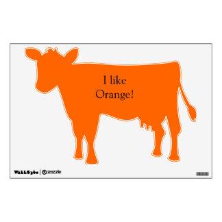 Cow orange wall decal