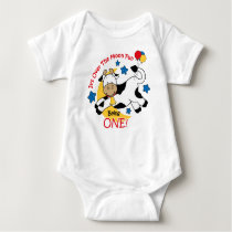 Cow Over Moon 1st Birthday Baby Bodysuit