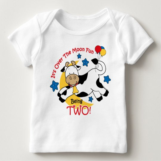 Cow Over Moon 2nd Birthday Baby T-Shirt