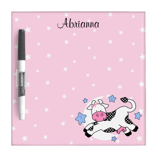 Cow Over Moon Baby Dry-Erase Board