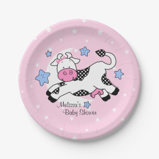 Cow Over Moon Baby Paper Plate