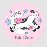 Cow Over Moon Baby Stickers