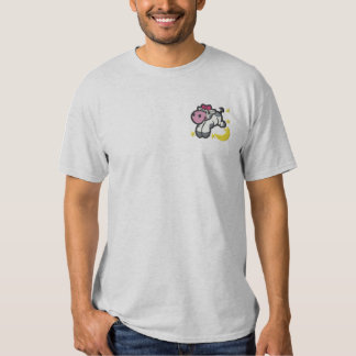 Cow Over Moon Embroidered T-Shirt